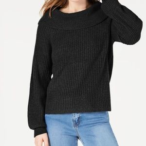 Hooked Up by IOT Jrs Marilyn Shawl-Collar Sweater